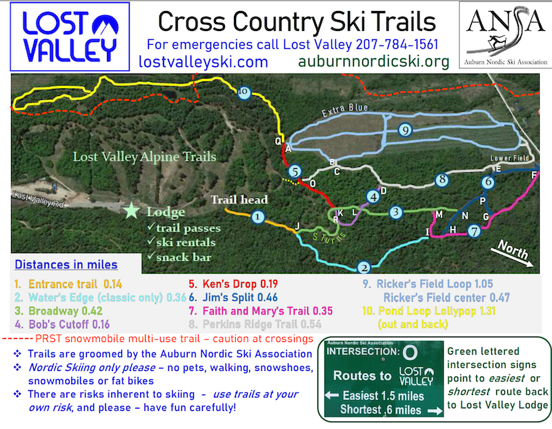 Nordic Ski Trail map