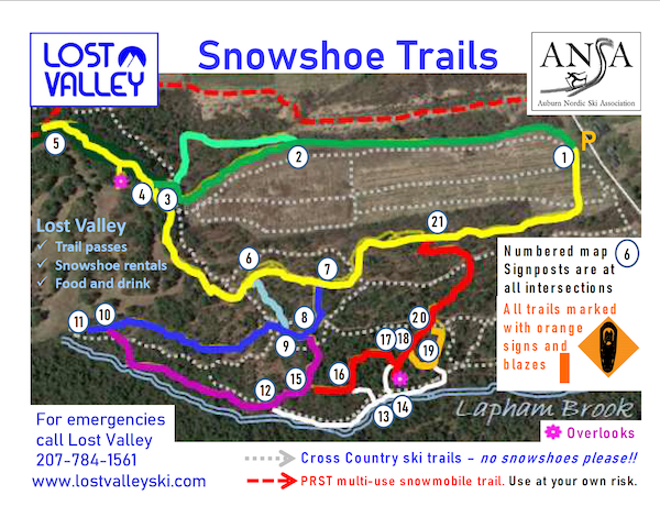 Snowshoe Trail Map